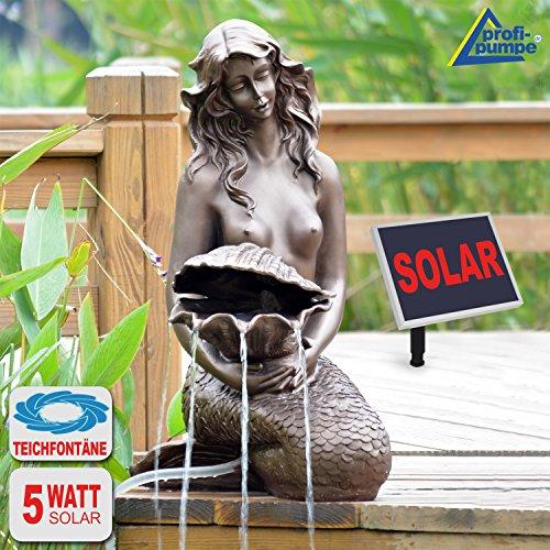 SPRINGBRUNNEN GARTENBRUNNEN SOLAR ZIERBRUNNEN Teichpumpe Set BRUNNEN Solar Meerjungfrau SOLARBRUNNEN GARTENTEICH BRUNNEN SETVOGELBAD WASSERSPIEL für Garten Terrasse Teich Balkon sehr DEKORATIV VERBESSERTES MODELL MIT PUMPEN-INSTANT-START-FUNKTION