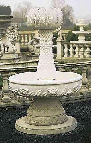 Brunnen Gartenbrunnen Zierbrunnen fountain Palme Farbe sandstein