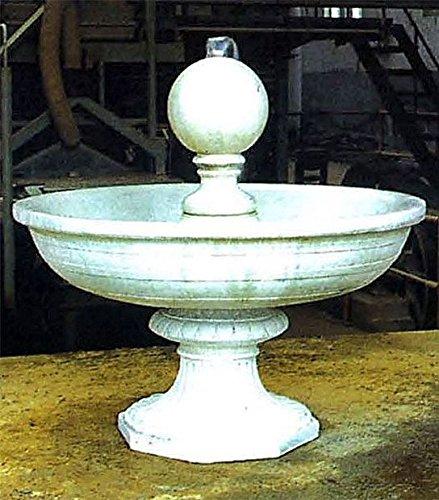 Brunnen Gartenbrunnen Zierbrunnen fountain mit Kugel Farbe sandstein