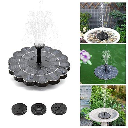 Decdeal 180LH Solar Springbrunnen 4 Level Wasserstrom Schwimmende Brunnen Abnehmbare Reinigung für Garten Teich