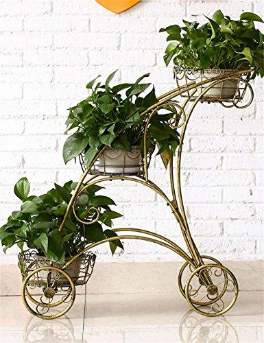 GJFHUAJIA Blumenständer Europäische - Stil Eisen Blume Rack Metall Kreative Home Interior Blume Racks Ausstellungsstand Farbe  Bronze