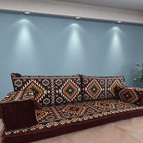 Spirit Home Interiors Ecksofa Eckcouch Boden Sitz Sofa Schlafsofa Schlafcouch Sofa für Wohnzimmer Bohemien Wohnzimmer