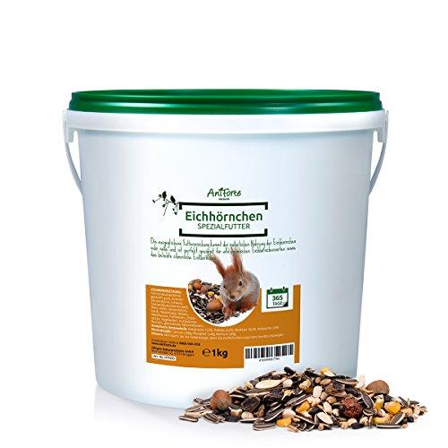 AniForte Wildlife Premium Eichhörnchenfutter 1 kg für Eichhörnchen und Streifenhörnchen - Naturprodukt Mischung Besondere und artgerechte Eichhörnchen Fütterung - Unsere Spezial Futtermischung