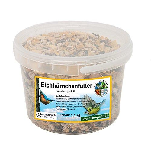 Eichhörnchen Nahrung 15 kg Eimer Premium Eichhörnchen Futter