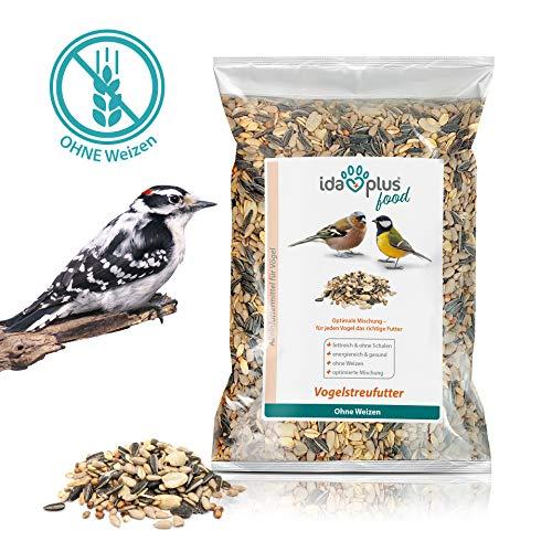 Ida Plus - Vogelstreufutter ohne Weizen für Wildvögel Vögel - Winterstreufutter - Ganzjahres-Vogelfutter - Optimale Mischung - für Vögel das richtige Futter  Weizenfrei  Fettreich  Energiereich