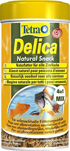 TetraDelica Natural Snack 4-in-1-Mix Naturfutter-Mischung vier separaten Fächern für alle Zierfische 250 ml Dose