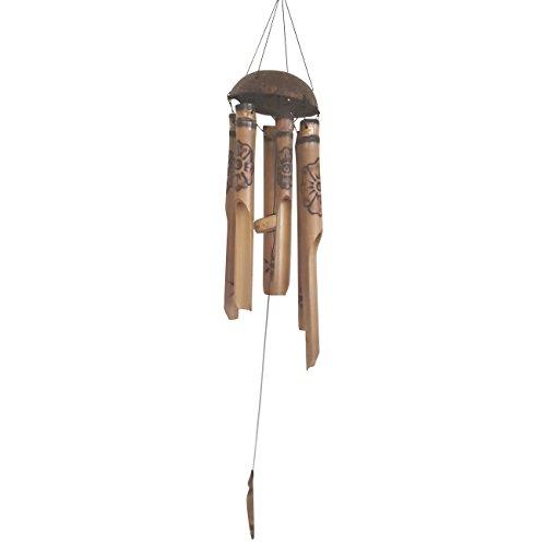 Ciffre Ca 70-80cm Windspiel Klangspiel Bambus Röhren Fair Trade Handarbeit Bemalt