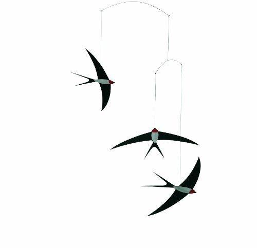 Flensted Mobiles - Mobile Windspiel - Fliegende Schwalben - 3 Schwalben