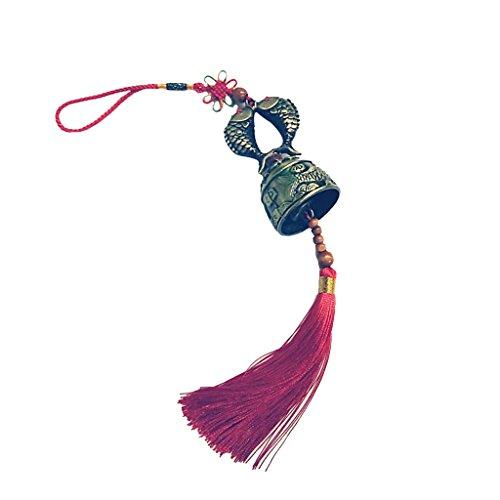 Messing Fisch Windspiel Glocke Hängen Charme Chinesischer Knoten Feng-Shui-Verzierung