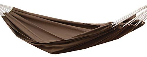 AMANKA XXL 2 Personen Hängematte Braun 400x160cm Belastbarkeit bis 150 KG 100 Baumwolle Mehrpersonen Hängematten