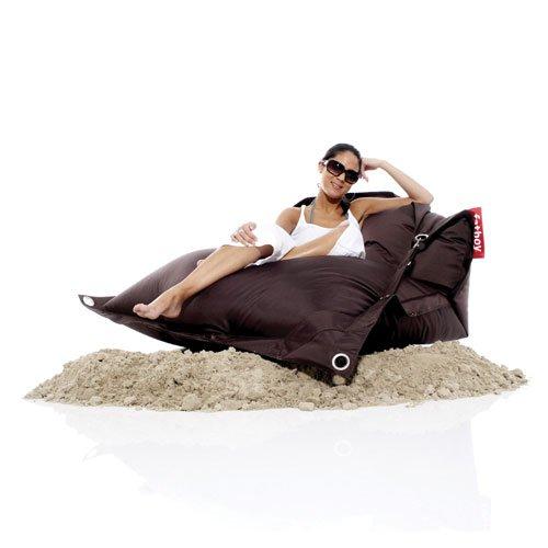 FATBOY Outdoor braun Kult Sitzsack für draußen Original mit verstellbarem Gurt