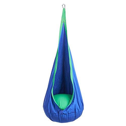 Gemeinsa Kinder Hängehöhle Hängesessel Hängematte Hängesitz mit Sitzkissen Outdoor und Indoor Kinderzimmer blau