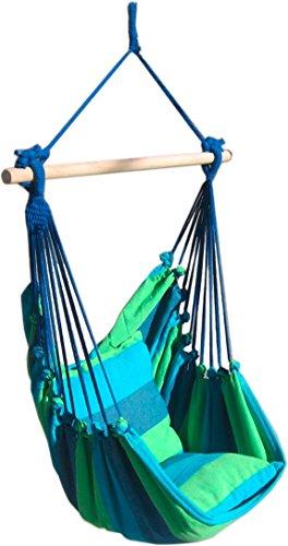 s`home Tobago  Hängesessel mit 2 Kissen  blau grün