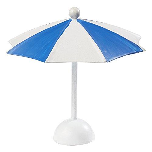 Sonnenschirmblau-weiss 10 x 10 cm