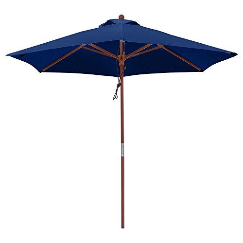 anndora Sonnenschirm 25 m Balkonschirm Rund Wasserabweisend Winddach Navy Blau