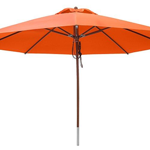 anndora Sonnenschirm Marktschirm Gastronomie ø 4 m rund - mit Winddach Orange  Mandarin