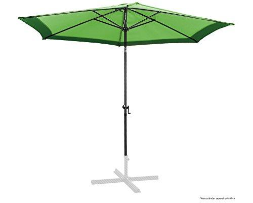 Ondis24 Marktschirm 3 Meter Sonnenschutz Sonnenschirm 300 cm rund mit Kurbel UV 50 Zweifarbig Grün