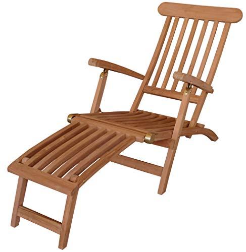 KMH Deckchair Classic echt TEAK ohne Auflage