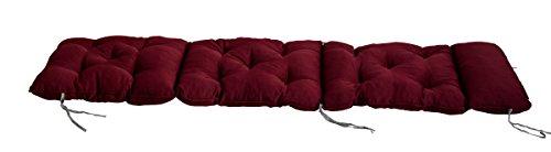 Meerweh Deckchair Auflage für Liege Polsterauflage Kissen rot 195 x 49 x 10 cm 74096