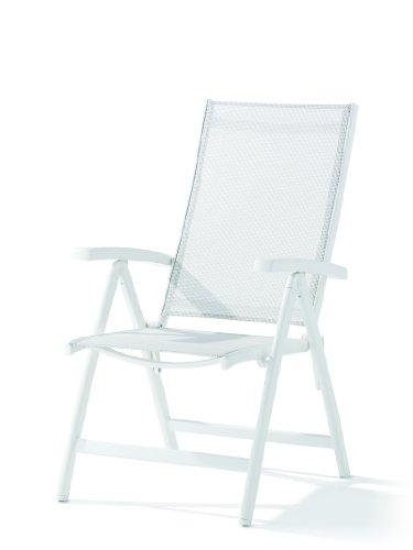 Sieger 945W-W Klappsessel Bodega Aluminium Vollkunststoff Textilux weiß