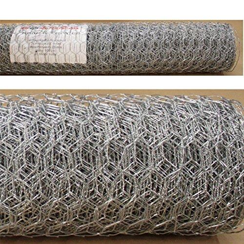 Sechseckgeflecht 15m x 10m - Maschung 25mm Hasendraht Kaninchendraht Maschendraht verzinkt