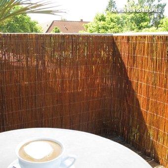 Videx Sichtschutzmatte Weide hell Champagne 150 x 500cm