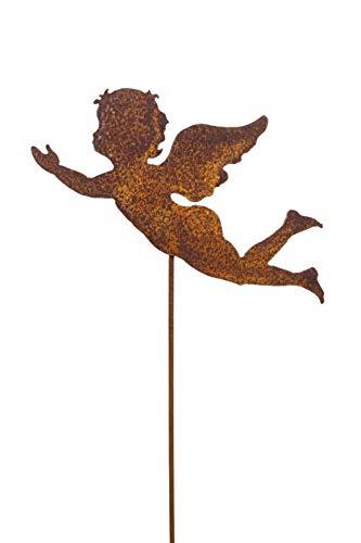 Gartenstecker Engel Metall Rost Edelrost Beetstab Rankhilfe Gartendekoration Deko Skulptur ca 116cm