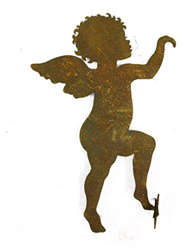 Metallmichl Rost Engel kletternd zum Einhängen h 25cm