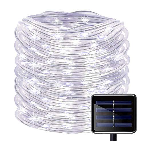 100 LEDs Solar Seil LichterketteKINGCOO Wasserdicht 39 ft12 m kupfer Draht Outdoor Tube Lichterkette für Weihnachten Garten Yard Weg Zaun Baum Backyard Weiß