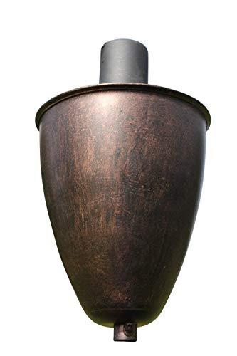 Gartenfackel aus Kupfer - Hergestellt aus Kupfer in antiker Kupferausführung - Wird mit Zitronellöl oder Ähnlichem befüllt