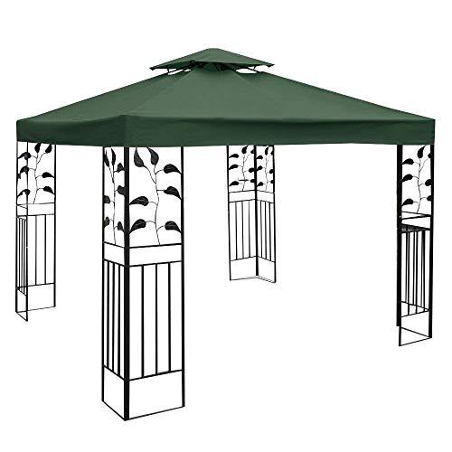 COSTWAY Pavilliondach Ersatzdach Pavillonplane Dachabzug Kaminabzug Dachplane für Pavillon 3x3M Grün