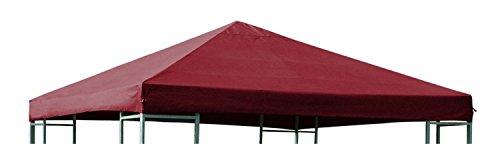 NFP Ersatzdach für Metall und Alu Pavillon Dach Pavillondach 3 x 3 Meter Wasserdicht Viele Farben FarbeDunkelrot