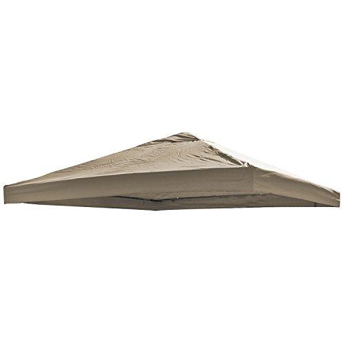 Universal Ersatz Dach für Pavillon 3x3 M Farbe Taupe Wasserdicht PVC Beschichtet 220gr Polyester mit Luftluke