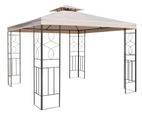 WASSERDICHT Pavillondach Beige 298x298m Dach Pavillon Pavillion PVC