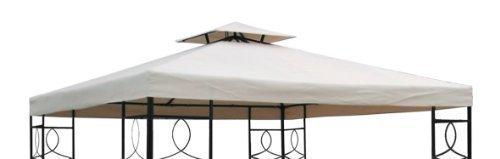 habeig Ersatzdach 310gm² Wasserdicht circa 3 x 3 m Pavillondach Wasserfest beige 298 x 298 x 18 cm 73011