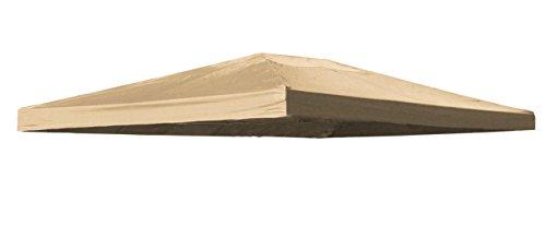 Grasekamp Ersatzdach zu Blätter-Pavillon 3x4m Sand Plane Ersatz-Bezug