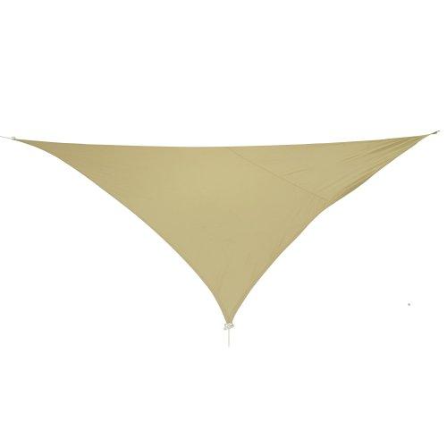 10T WILSON Dreieck Tarp 36m je Seite Sonnensegel wetterbeständig 90 UV Schutz Sonnenschirm Regenschutz wasserdicht inkl Abspannseile für Camping Garten Terasse Balkon