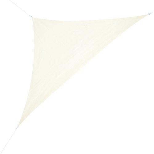 Corasol COR11RA5-CW Premium Sonnensegel 5 x 5 x 7 m 90 Grad Dreieck wasserabweisend cremeweiß