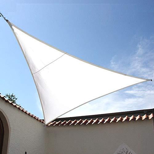 Dekowelten LUXUS Terrassen Sonnensegel dreieck der ExtraKlasse 375m wasserdicht weiß Regenschutz