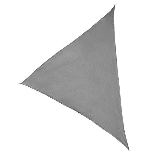 Ultranatura Sonnensegel-Dreieck Ibiza Sonnensegel dreieckig Sonnen Segel Silber Terrakotta Terrassen Sonnenschutz Sonnendach Balkon 5 x 5 x 5 m Silber