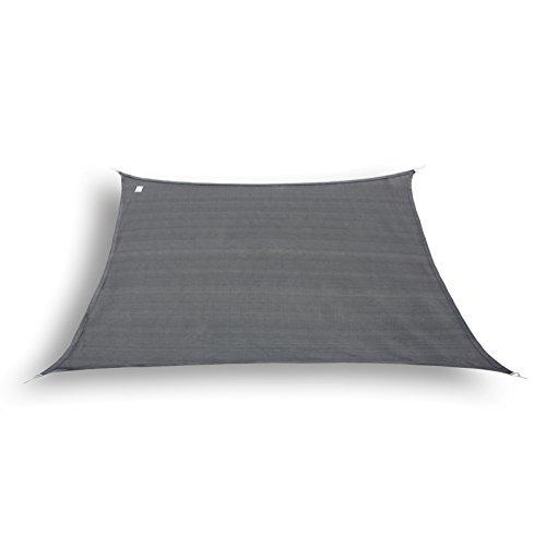 hanSe Marken Sonnensegel Sonnenschutz Segel Trapez 34 x 3m Farbe Graphit