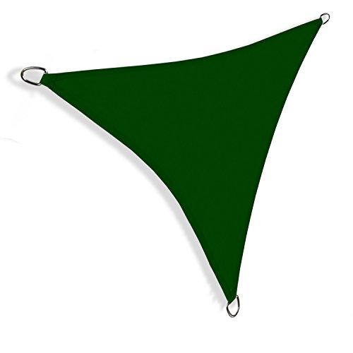 Hausratplus Sonnensegel UV50 dreieckig rechteckig verschiedene Größen und Farben 36m x 36m x 36m grün