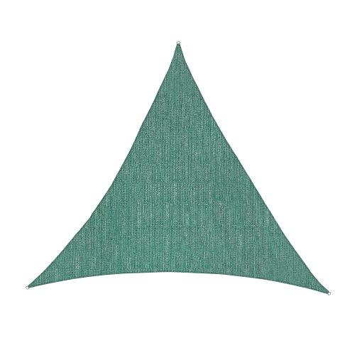 Jarolift Sonnensegel Dreieck atmungsaktiv 360 x 360 x 360 cm grün