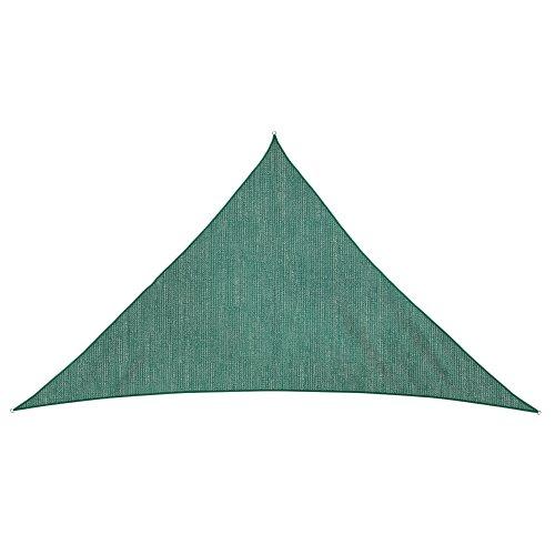 Jarolift Sonnensegel Dreieck atmungsaktiv 510 x 360 x 360 cm grün