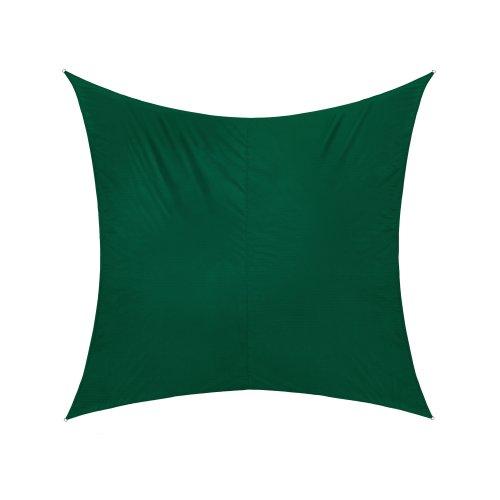 Jarolift Sonnensegel Quadrat wasserabweisend 360 x 360 cm grün