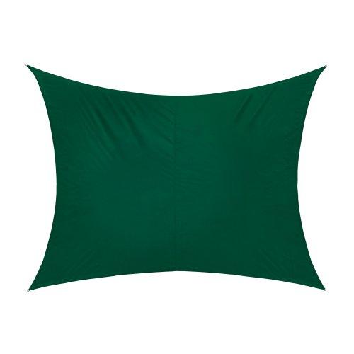 Jarolift Sonnensegel Rechteck wasserabweisend 300 x 200 cm grün