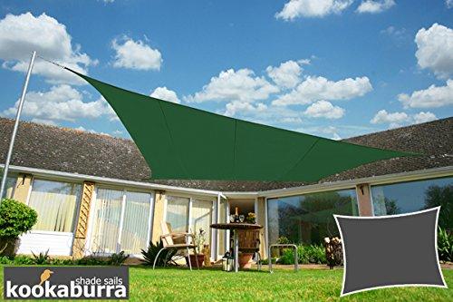 Kookaburra 40m x 30m Rechteck Grün Gewebtes Sonnensegel Wasserfest