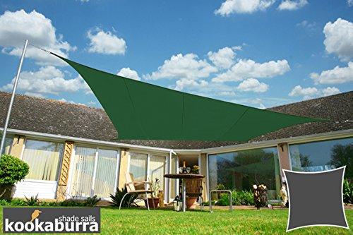 Kookaburra Wasserfest Sonnensegel 54m Quadrat Grün