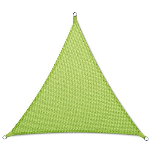 casa pura Sonnensegel wasserabweisend imprägniert  Dreieck gleichseitig  Testnote 14  UV Schutz  verschiedene Farben und Größen hellgrün 3x3x3m