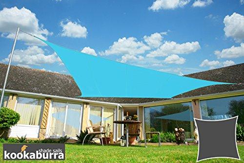 Kookaburra Wasserfest Sonnensegel 36m Quadrat Azurblau